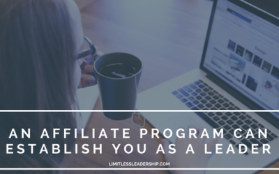 An Affiliate Program Can Establish You As A Leader