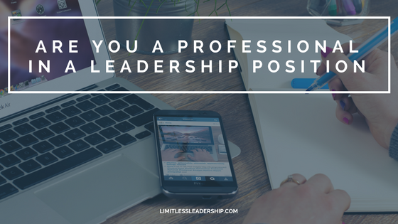 Are you a professional in a leadership position?